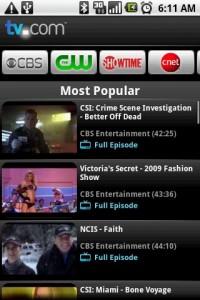 TV.com Most Popular