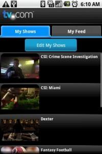 TV.com My Shows
