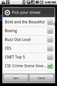 TV.com Pick Favorite Shows