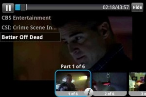 TV.com TV Show Playing with Onscreen Chapter Menu