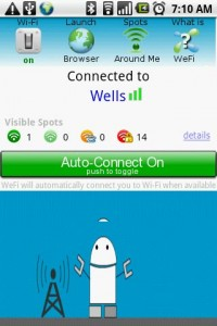 Wefi Connected to Wifi Wireless Network