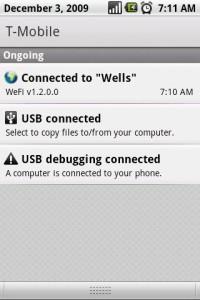Wefi Notification Status in Window Shade