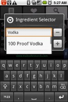 Bartender Ingredient Selector Search