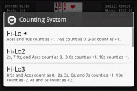 Blackjack Pro Card Counting System Options