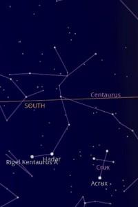 Google Sky Map South