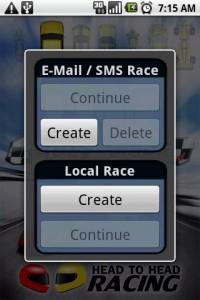Head To Head Racining Create Race Invite Friend