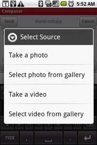 Seesmic Twitter App Photo Tweeting Options