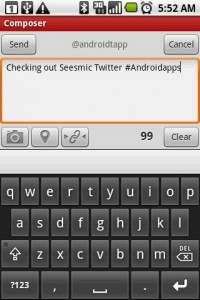 Seesmic Twitter App Writing Tweet