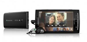 Sony Ericsson Xperia X10 in Black Horizontal