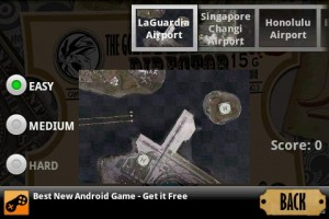 Flight Director Choose Game Level and Airport