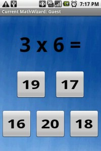 MathWizard Multiplication Math Question