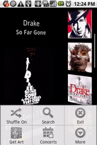 Rockon Music Player Menu Options