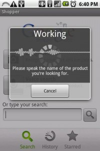 Shopper Voice Search