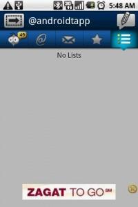 TweetCaster Lists