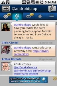 TweetCaster Replies