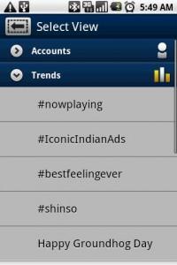 TweetCaster Trends