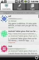 WordPress for Android Comments