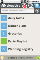 cloudList - Grocery Todo List