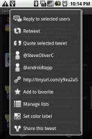 twicca Tweet Options