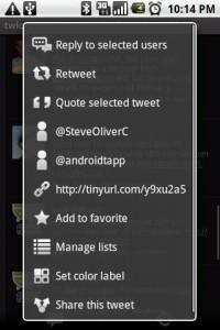 twicca Tweet Options