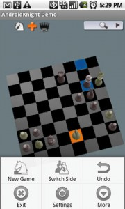AndroidKnight 3D Chess Game Options