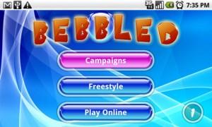 Bebbled Start Screen