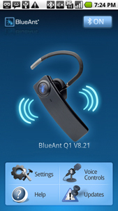 BlueAnt Bluetooth Earpiece Reads Text Messages, GPS Navigation and Plays Music