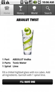Drinkspiration by ABSOLUT Drink Details