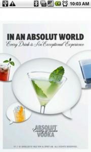 Drinkspiration by ABSOLUT Splash Screen