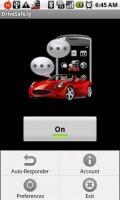 DriveSafe.ly Toggle Screen
