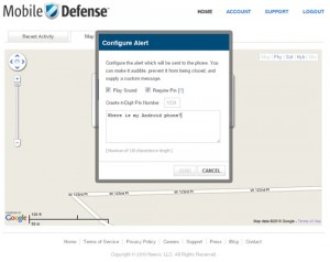 Mobile Defense Online Send Alerts to Phone