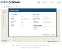 Mobile Defense Online Tracking Details