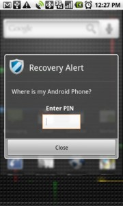 Mobile Defense Recovery Alert