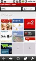 Opera Mini 5 Web Browser Home
