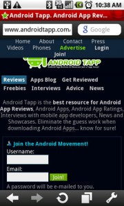 Opera Mini 5 Web Browser Viewing AndroidTapp Mobile