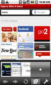 Opera Mini 5 Web Browser Windows