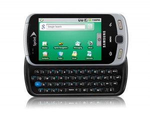 Samsung Moment for Sprint Fromt Keyboard Open