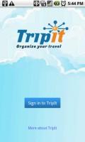 TripIt Start Screen