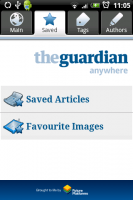 A screenshot of the Guardian Anywhere app