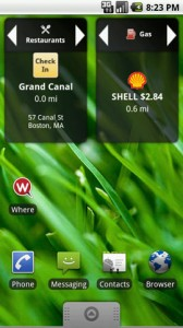 WHERE Android Widgets