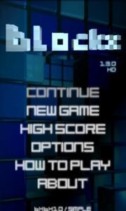 Blockx 3D Start Screen