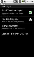 BlueAnt Q1 Android Application Settings