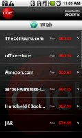 CNET Scan & Shop Product Price Comparing on the Web
