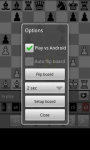 Chess Game Options