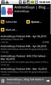Google Listen AndroidGuys Channel of Episodes