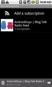 Google Listen Subscriptions