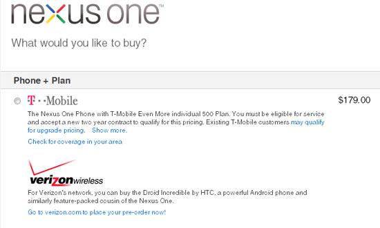 No Nexus One for Verizon