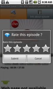 PodKast Episode Rating