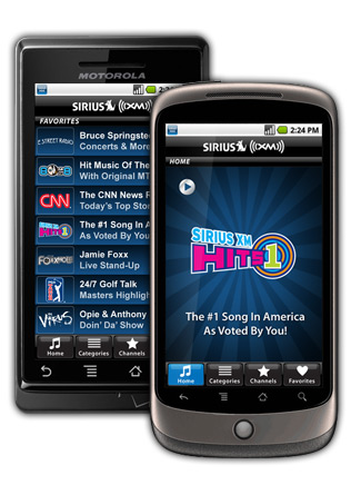 SIRIUS XM Radio for Android Now Available