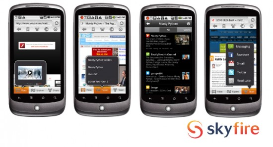 Skyfire Mobile Browser for Android Playable Flash Videos and More!